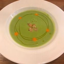 グリーンピースのスープ。.jpg
