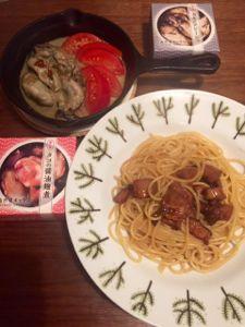 牡蠣のアヒージョ&タコパスタ.jpg